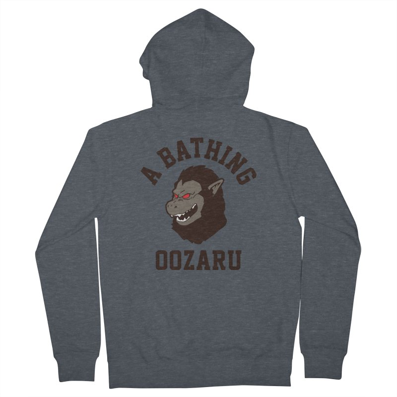 A Bathing Oozaru Women's French Terry Zip-Up Hoody by Steven Toang