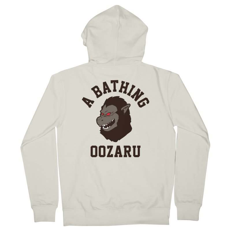 A Bathing Oozaru Men's French Terry Zip-Up Hoody by Steven Toang