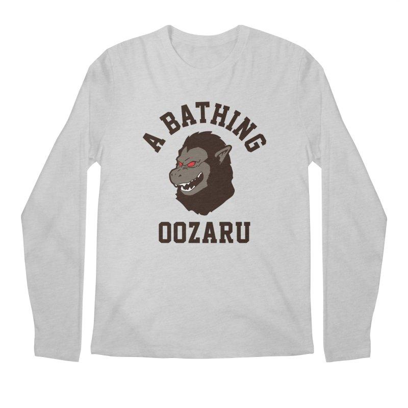 A Bathing Oozaru Men's Regular Longsleeve T-Shirt by Steven Toang