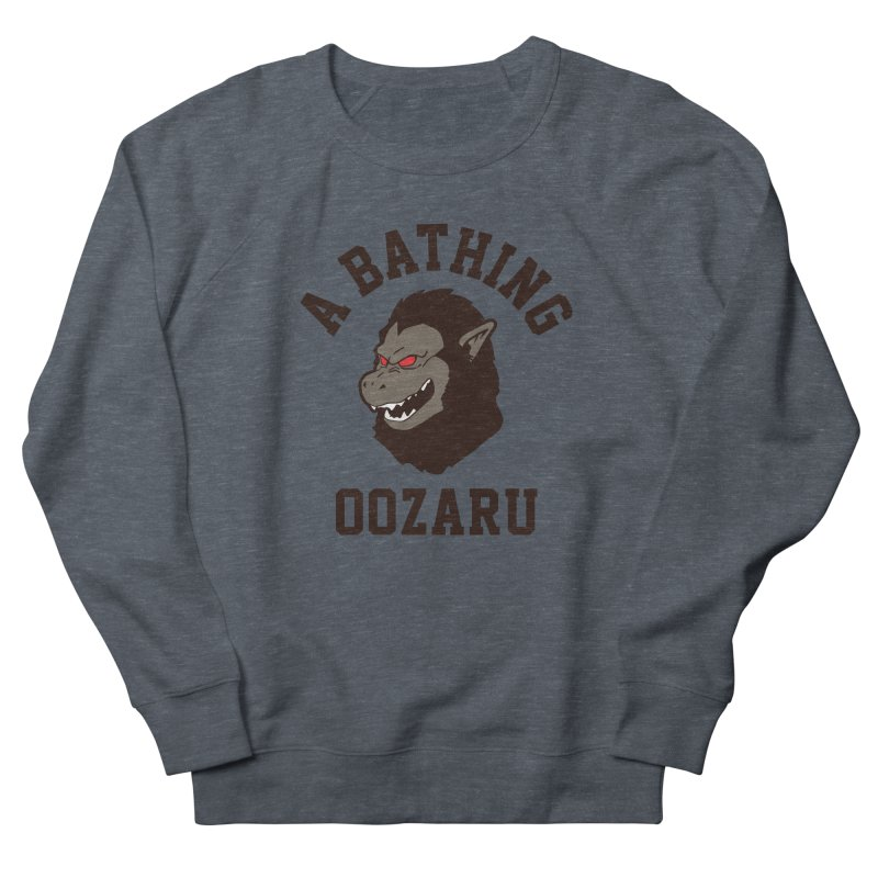 A Bathing Oozaru Men's French Terry Sweatshirt by Steven Toang