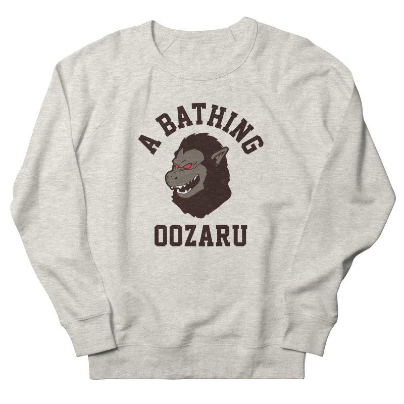 A Bathing Oozaru Men's French Terry Sweatshirt by Steven Toang