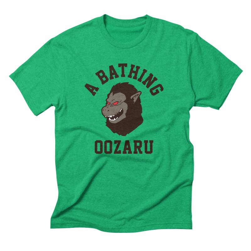 A Bathing Oozaru Men's Triblend T-Shirt by Steven Toang