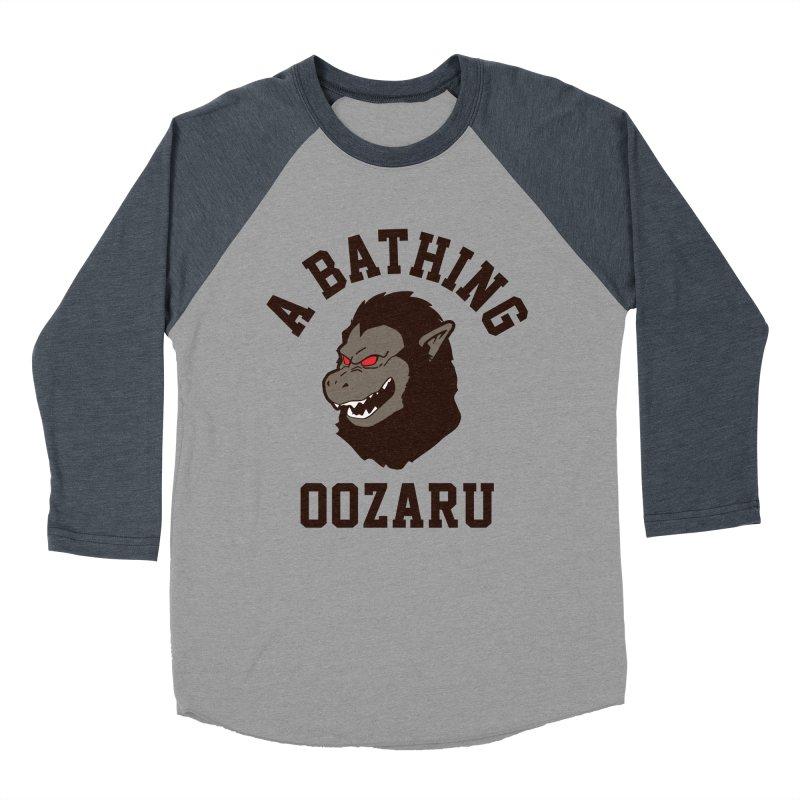 A Bathing Oozaru Women's Baseball Triblend Longsleeve T-Shirt by Steven Toang