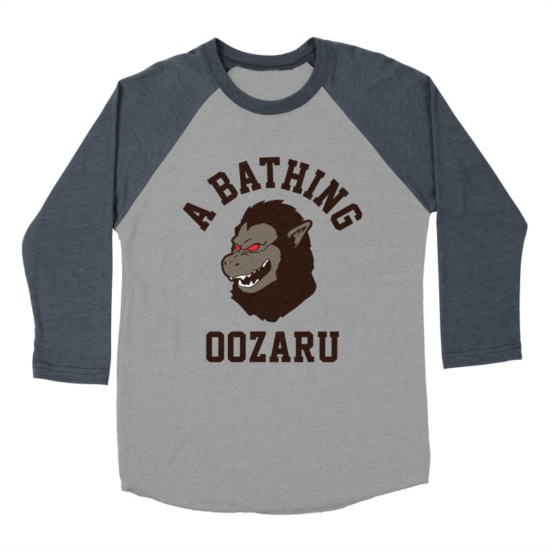 A Bathing Oozaru Men's Baseball Triblend T-Shirt by Steven Toang