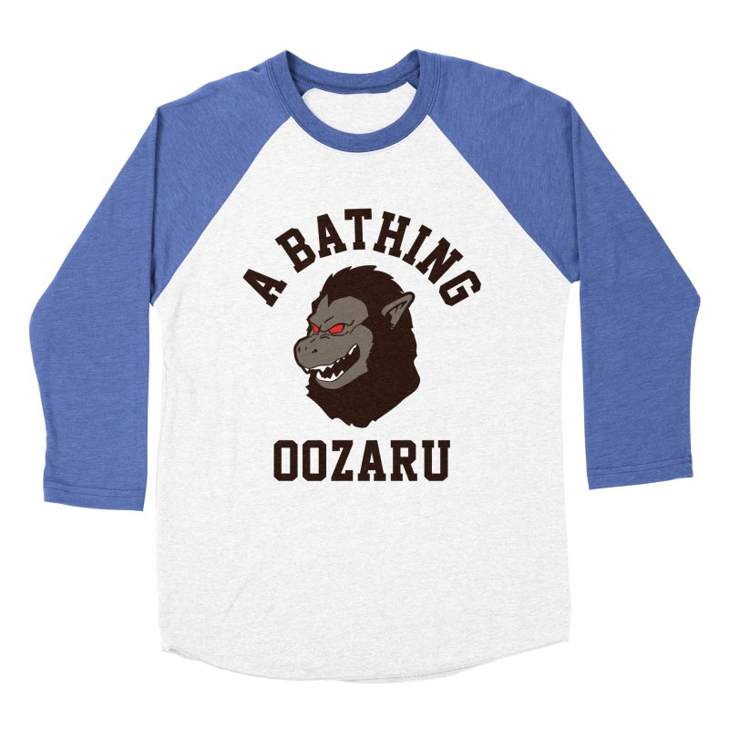 A Bathing Oozaru Men's Baseball Triblend Longsleeve T-Shirt by Steven Toang