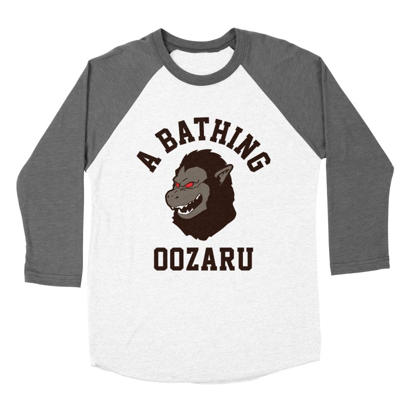 A Bathing Oozaru Men's Baseball Triblend Longsleeve T-Shirt by Steven Toang