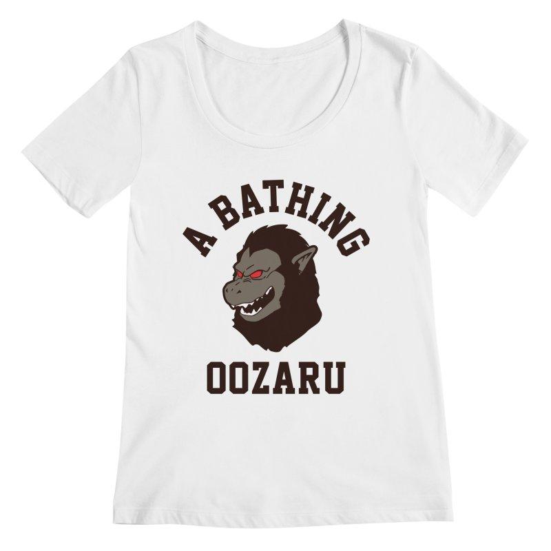 A Bathing Oozaru Women's Regular Scoop Neck by Steven Toang