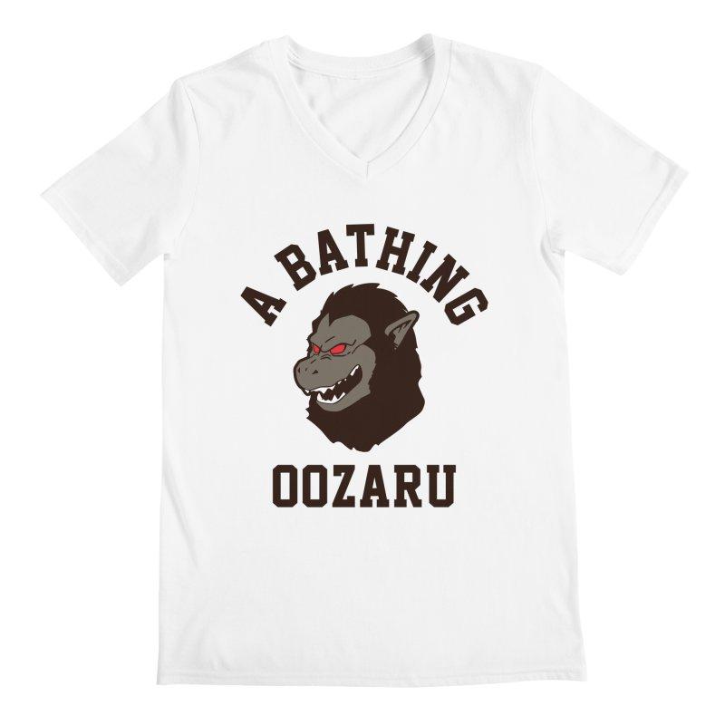 A Bathing Oozaru Men's Regular V-Neck by Steven Toang