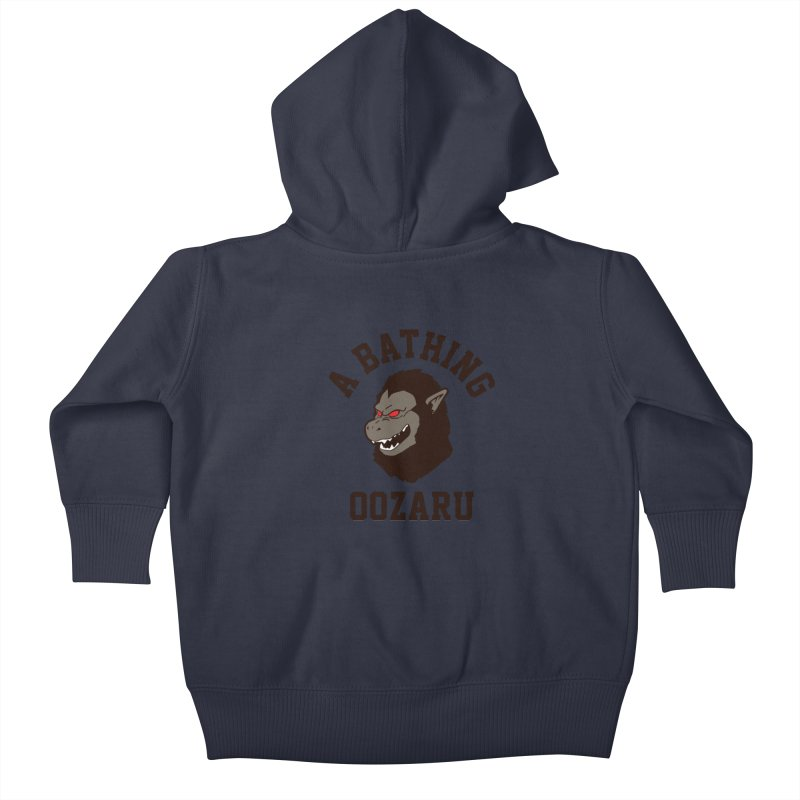 A Bathing Oozaru Kids Baby Zip-Up Hoody by Steven Toang