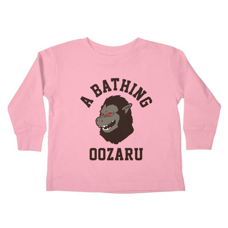 A Bathing Oozaru Kids Toddler Longsleeve T-Shirt by Steven Toang
