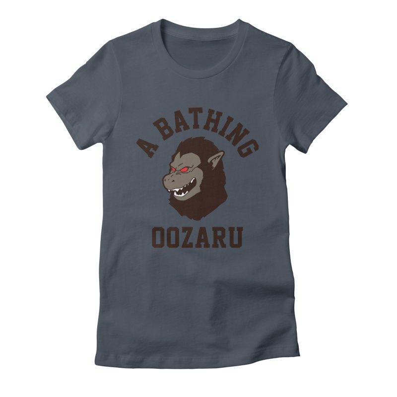 A Bathing Oozaru Women's T-Shirt by Steven Toang