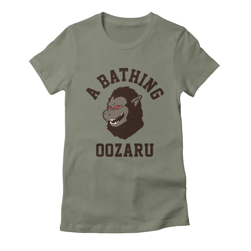 A Bathing Oozaru Women's Fitted T-Shirt by Steven Toang