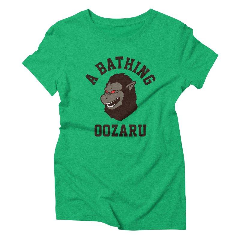 A Bathing Oozaru Women's Triblend T-Shirt by Steven Toang