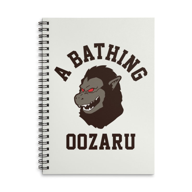 A Bathing Oozaru Accessories Lined Spiral Notebook by Steven Toang