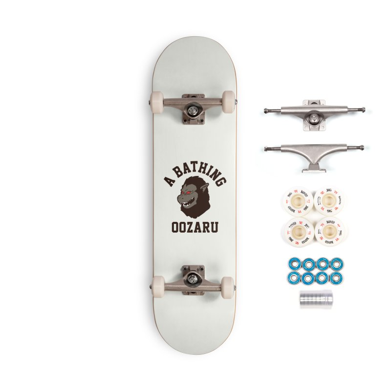 A Bathing Oozaru Accessories Complete - Premium Skateboard by Steven Toang
