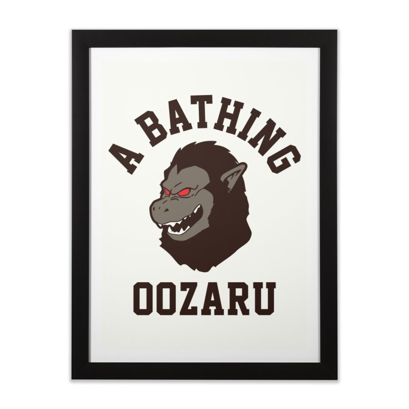 A Bathing Oozaru Home Framed Fine Art Print by Steven Toang