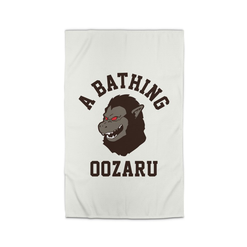 A Bathing Oozaru Home Rug by Steven Toang