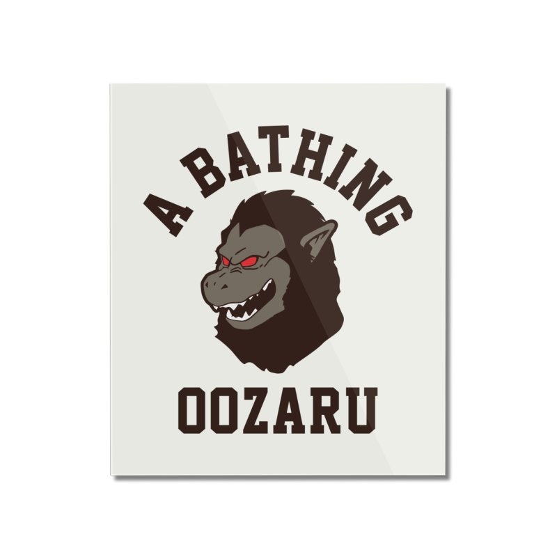 A Bathing Oozaru Home Mounted Acrylic Print by Steven Toang