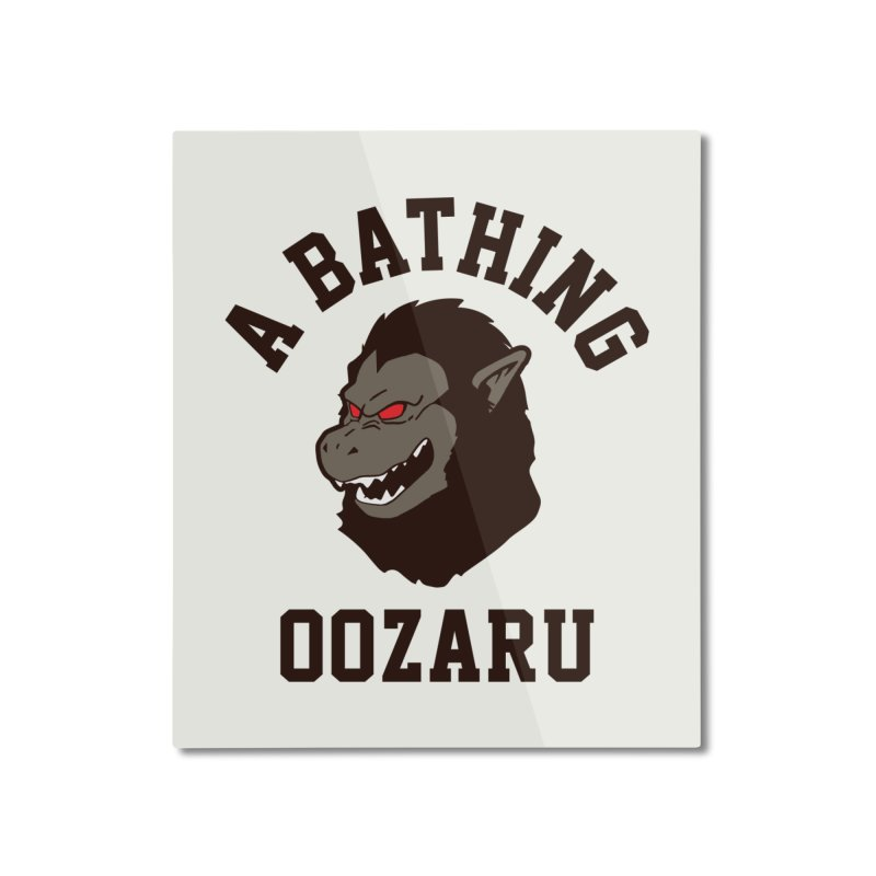 A Bathing Oozaru Home Mounted Aluminum Print by Steven Toang