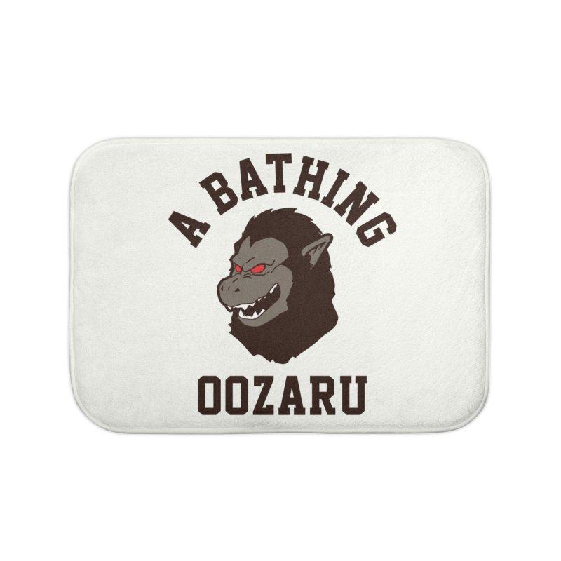 A Bathing Oozaru Home Bath Mat by Steven Toang