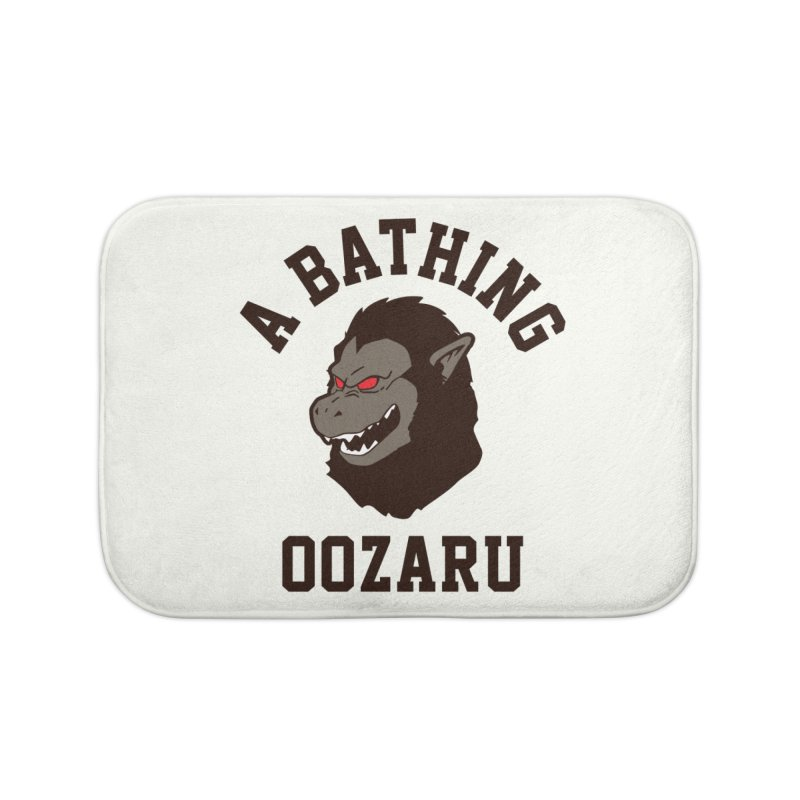 A Bathing Oozaru Home Bath Mat by Steven Toang