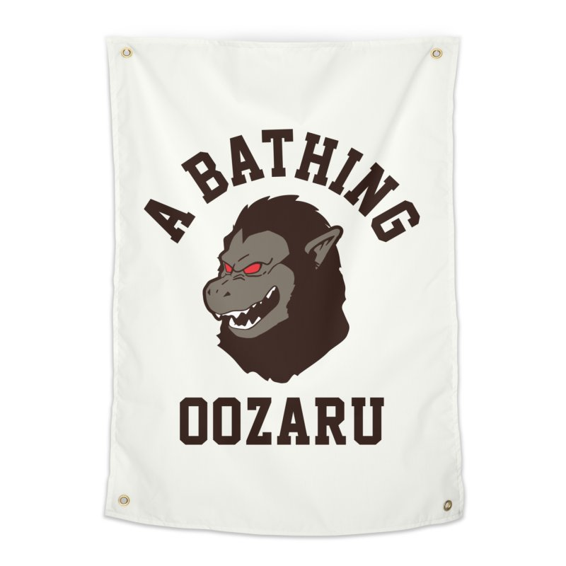 A Bathing Oozaru Home Tapestry by Steven Toang