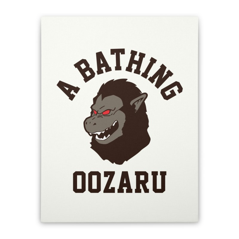 A Bathing Oozaru Home Stretched Canvas by Steven Toang