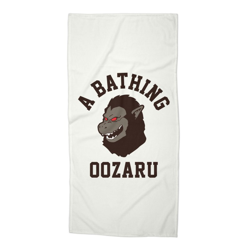 A Bathing Oozaru Accessories Beach Towel by Steven Toang