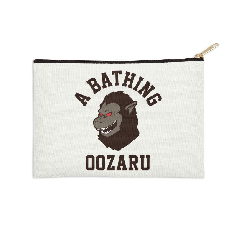 A Bathing Oozaru Accessories Zip Pouch by Steven Toang