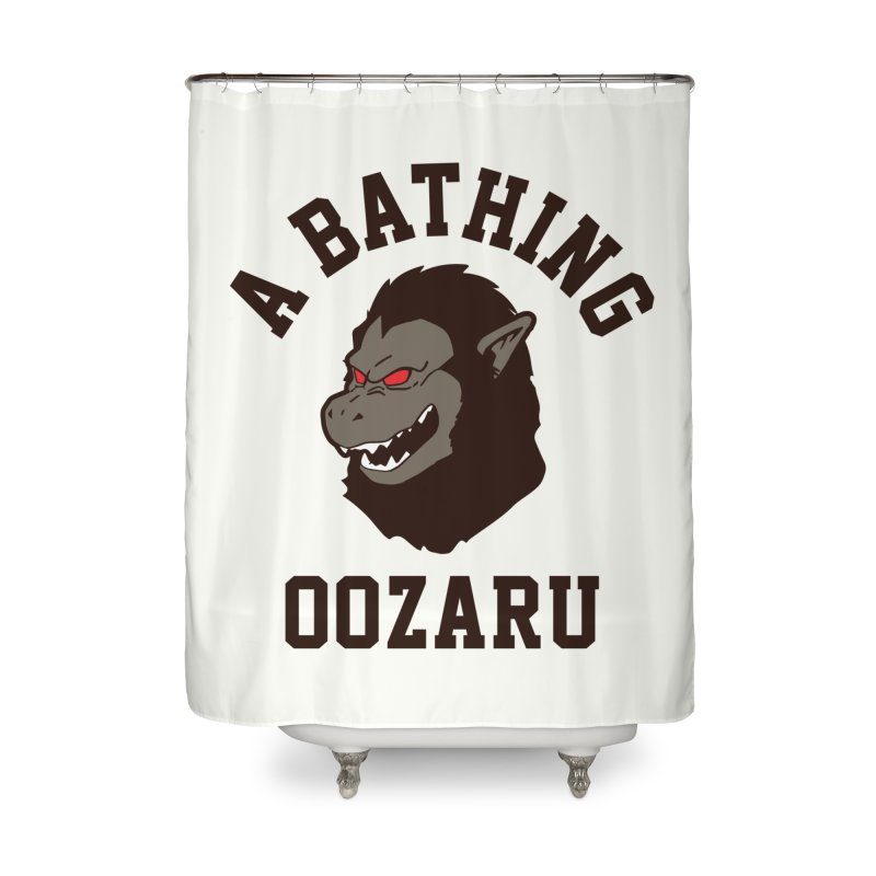 A Bathing Oozaru Home Shower Curtain by Steven Toang