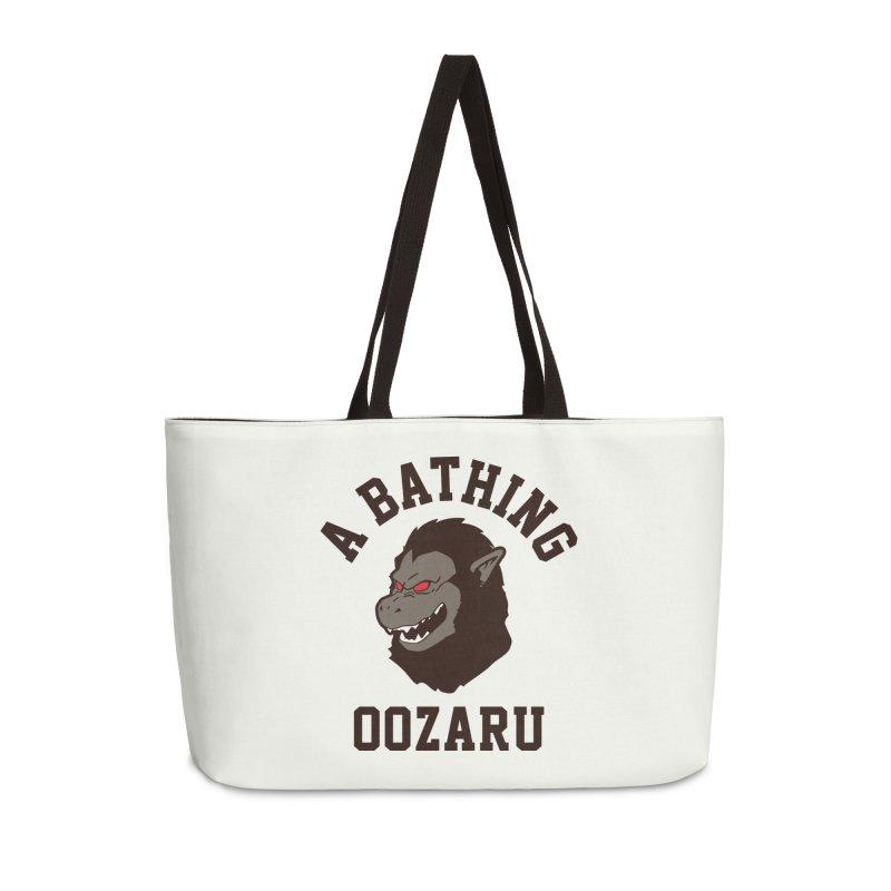 A Bathing Oozaru Accessories Weekender Bag Bag by Steven Toang