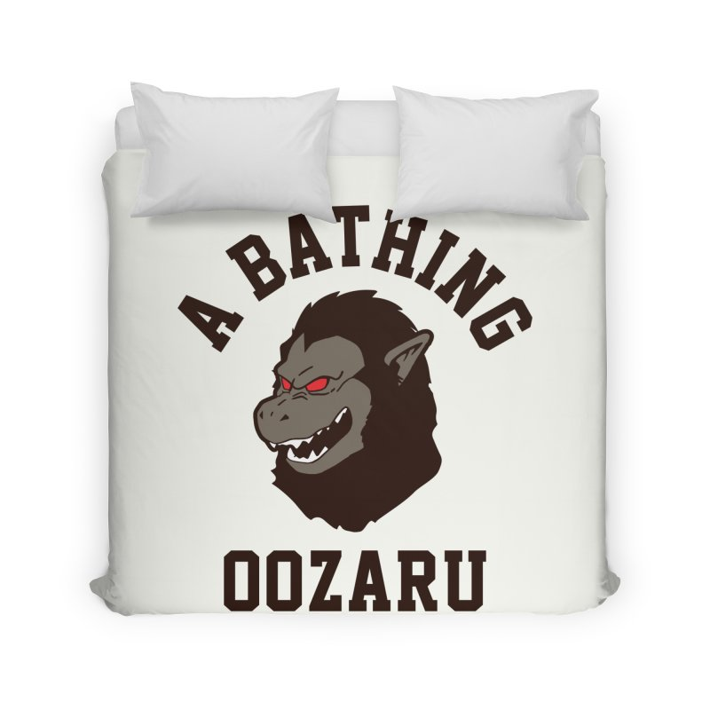 A Bathing Oozaru Home Duvet by Steven Toang