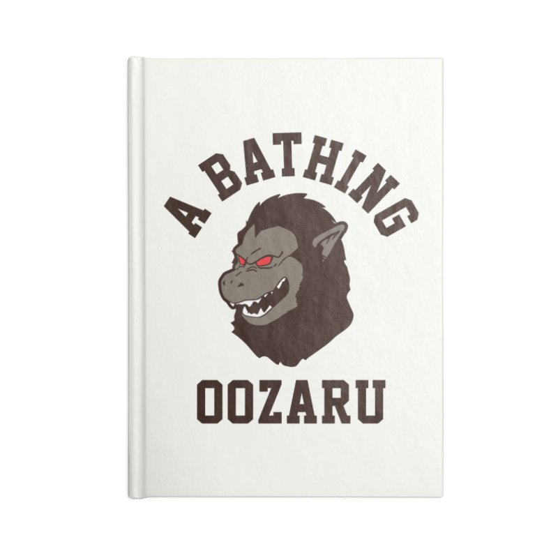 A Bathing Oozaru Accessories Lined Journal Notebook by Steven Toang