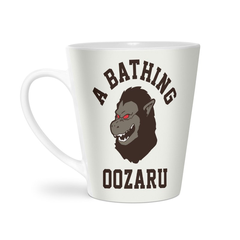 A Bathing Oozaru Accessories Latte Mug by Steven Toang
