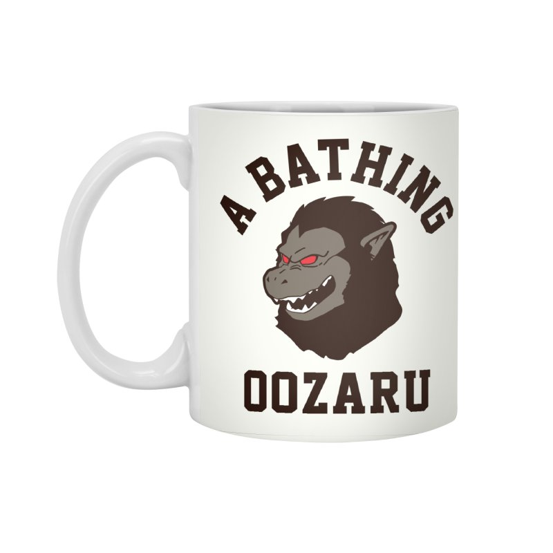 A Bathing Oozaru Accessories Standard Mug by Steven Toang