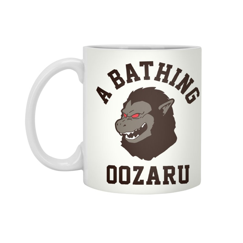 A Bathing Oozaru Accessories Mug by Steven Toang