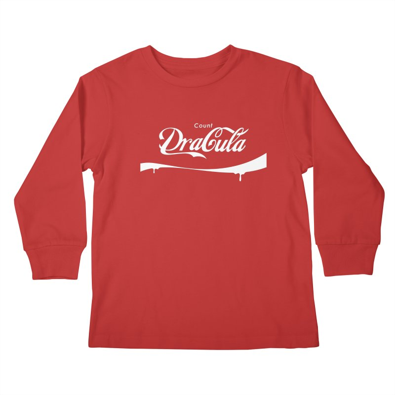 Count Dracula Kids Longsleeve T-Shirt by Steven Toang