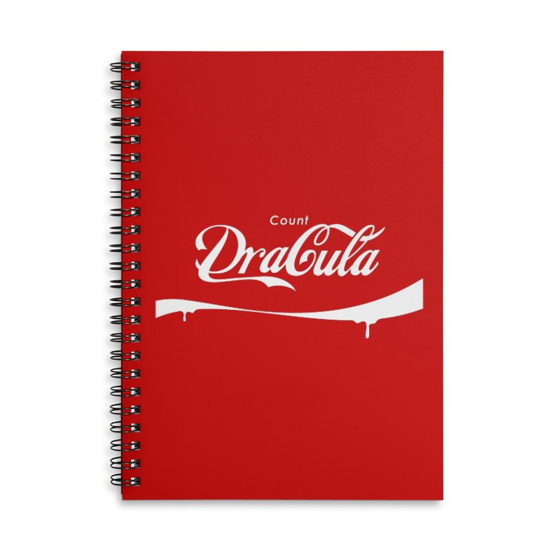 Count Dracula Accessories Lined Spiral Notebook by Steven Toang