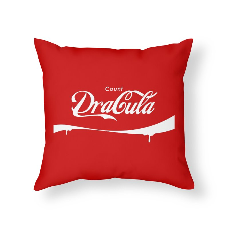 Count Dracula Home Throw Pillow by Steven Toang