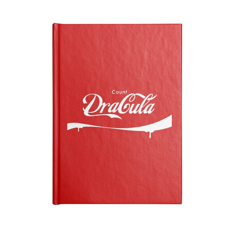 Count Dracula Accessories Lined Journal Notebook by Steven Toang