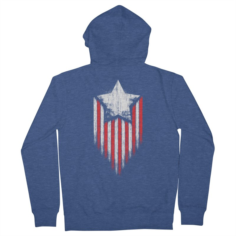 Star & Stripes Men's Zip-Up Hoody by Steven Toang