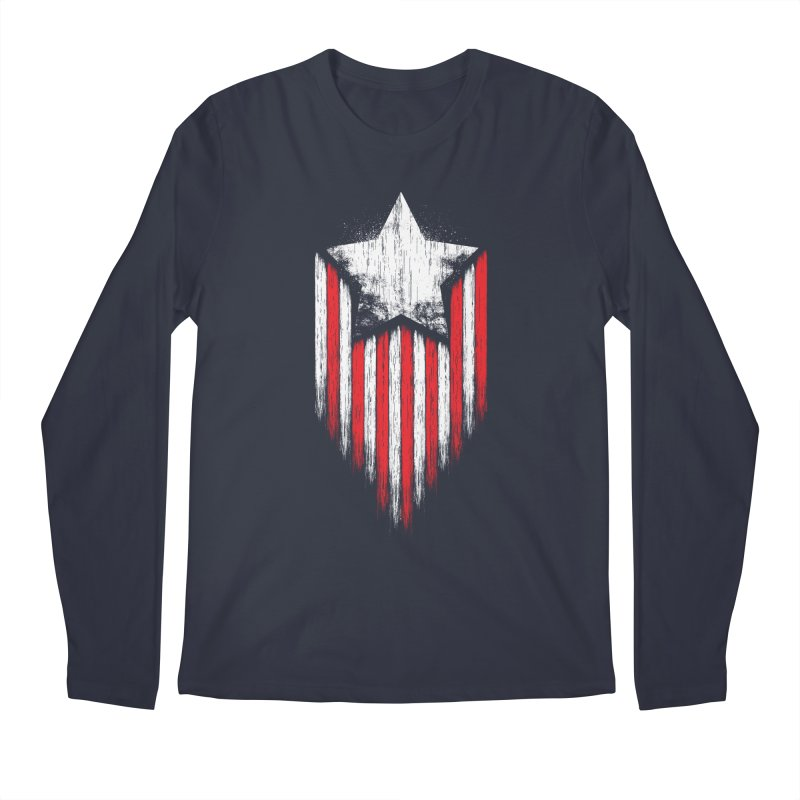 Star & Stripes Men's Longsleeve T-Shirt by Steven Toang