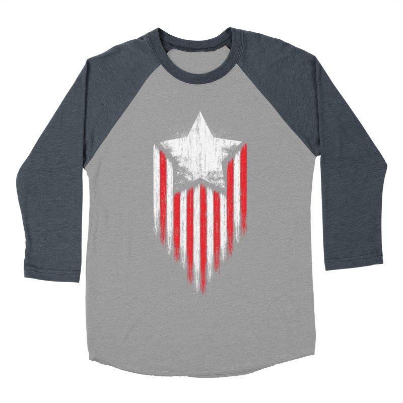 Star & Stripes Men's Baseball Triblend T-Shirt by Steven Toang