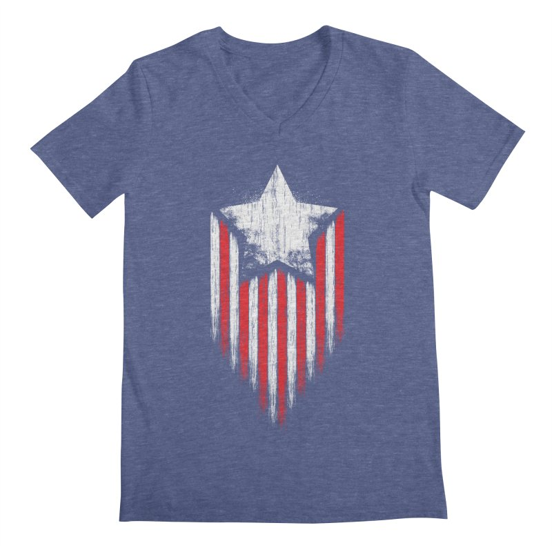 Star & Stripes Men's V-Neck by Steven Toang