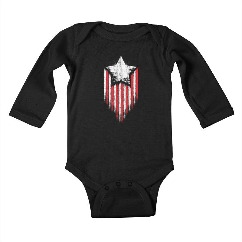 Star & Stripes Kids Baby Longsleeve Bodysuit by Steven Toang
