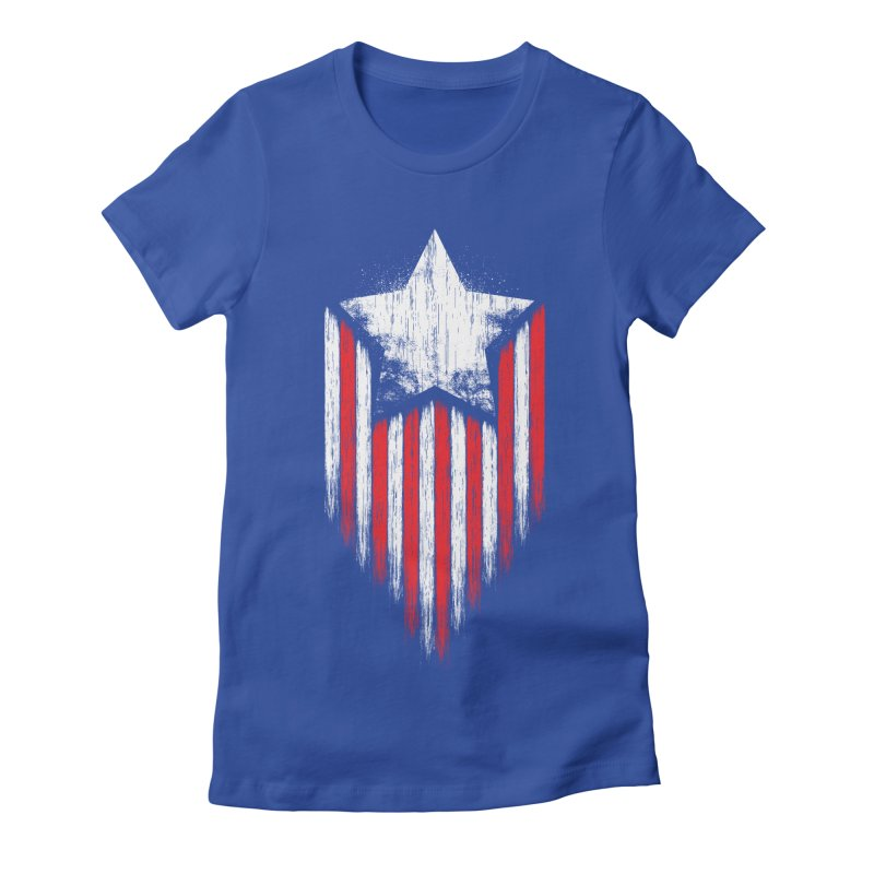 Star & Stripes Women's Fitted T-Shirt by Steven Toang