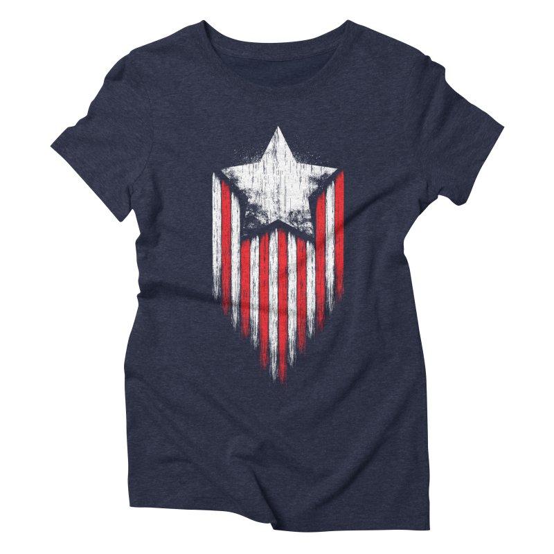 Star & Stripes Women's Triblend T-shirt by Steven Toang