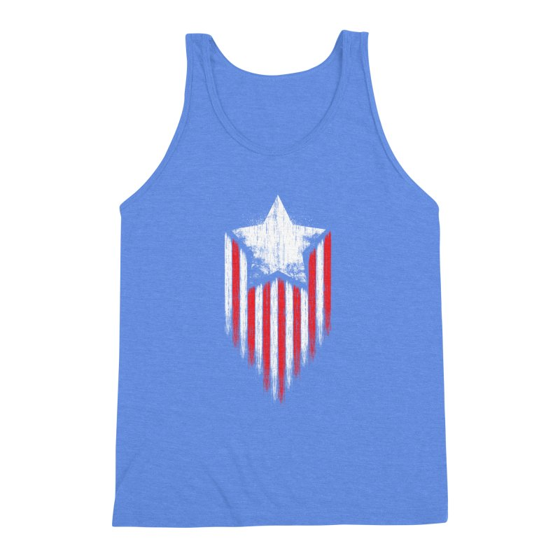 Star & Stripes Men's Triblend Tank by Steven Toang