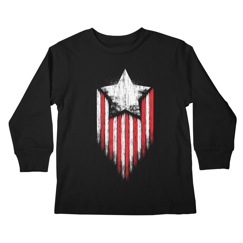 Star & Stripes Kids Longsleeve T-Shirt by Steven Toang