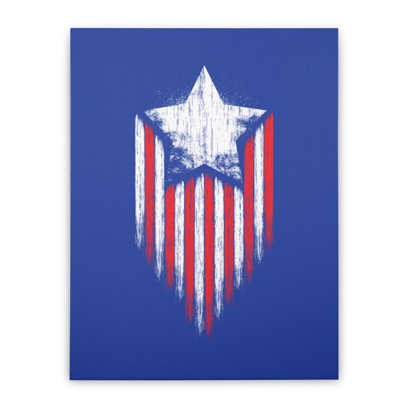 Star & Stripes Home Stretched Canvas by Steven Toang